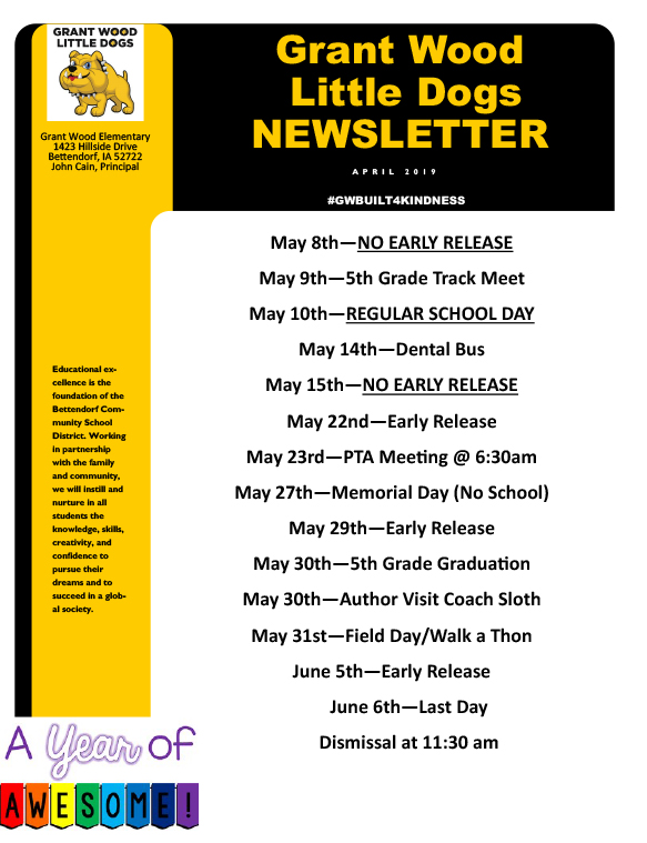 Cover of May Newsletter