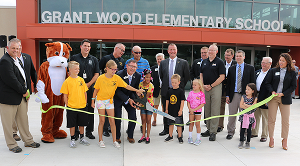 Picture of new Grant Wood ribbon cutting